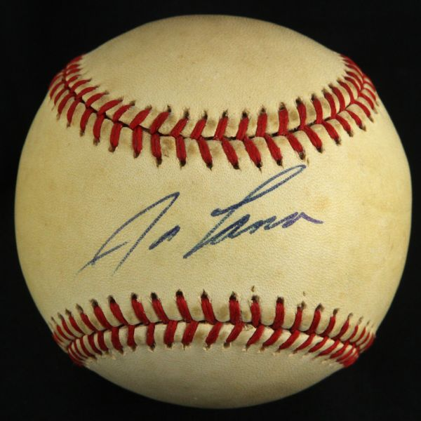 1984 JOSE CANSECO PRE-ROOKIE GAME USED SIGNED BASEBALL JSA