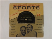 *1955 GREATEST MOMENTS IN SPORTS 45 LP RECORD RUTH GEHRIG DEMPSEY & MORE!