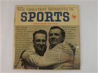 *1955 GREATEST MOMENTS IN SPORTS LP RECORD RUTH GEHRIG DEMPSEY & MORE!