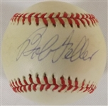 BOB FELLER SIGNED OAL BOBBY BROWN BASEBALL SWEET SPOT