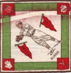 "--1914 B18 BLANKETS ""GEORGE J. BURNS"" N.Y. GIANTS"
