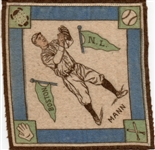 "---1914 B18 BLANKETS ""LESLIE MANN"" BOSTON BRAVES"
