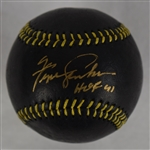 FERGIE JENKINS SIGNED & INSCRIBED LIMITED EDITION BLACK/GOLD BASEBALL