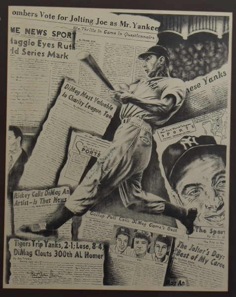 JOE DiMAGGIO SIGNED ROBERT STEPHEN SIMON LIMITED EDITION LITHOGRAPH JSA