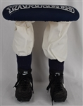 NEW YORK YANKEES 1998 WORLD SERIES STOOL W/ AUTHENTIC NIKE CLEATS