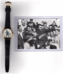 ROCKY MARCIANO 1954 PHOTO & ORIGINAL VINTAGE WATCH WORLDS CHAMPION