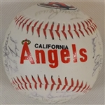 --1986 DIV. CHAMPION CA.ANGELS SOUVENIR BASEBALL SIGNED BY (30) PLAYERS