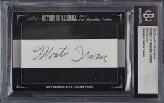2012 LEAF CUT SIGNATURE HISTORY OF BASEBALL MONTE IRVIN BECKETT