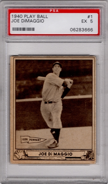1940 PLAY BALL #1 JOE DIMAGGIO PSA 5