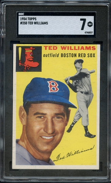 1954 TOPPS #250 TED WILLIAMS SGC 7