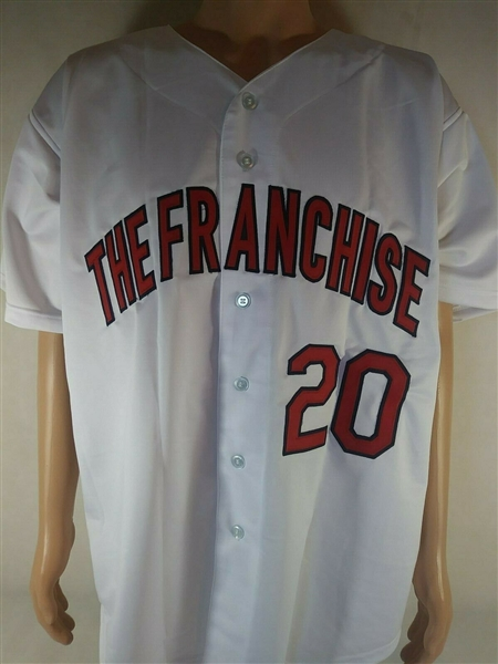 --Lou Brock Signed Custom The Franchise Stat Jersey JSA - COA