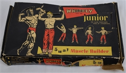 1955 WHITELY JUNIOR 3 WAY MUSCLE BUILDER IN ORIGINAL BOX