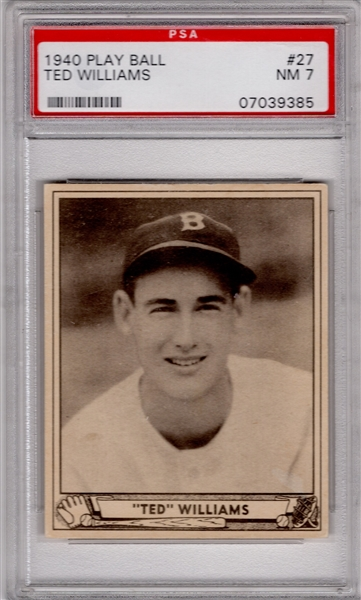 1940 PLAY BALL #27 TED WILLIAMS PSA 7