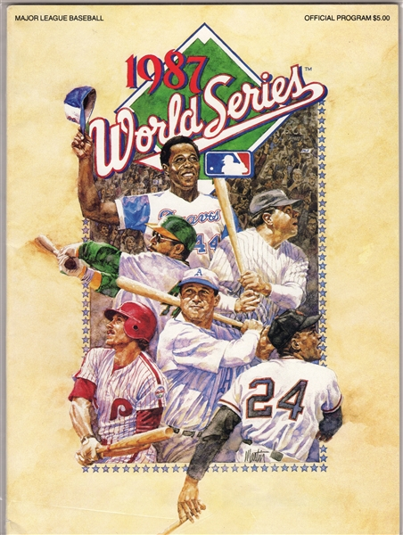 1987 WORLD SERIES PROGRAM MINNESOTA TWINS - ST. LOUIS CARDINALS