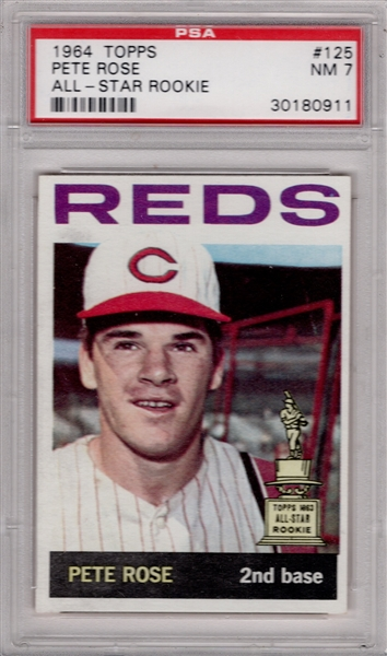 1964 TOPPS #125 PETE ROSE ALL-STAR ROOKIE PSA 7