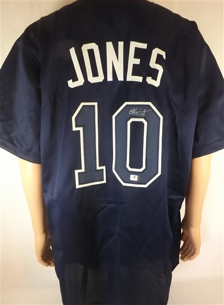 CHIPPER JONES SIGNED ATLANTA BRAVES JERSEY COA