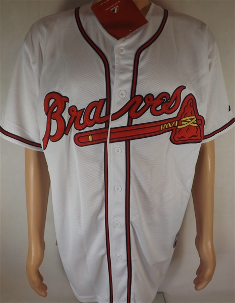 CHIPPER JONES SIGNED ATLANTA BRAVES MAJESTIC JERSEY COA