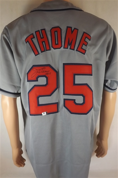 JIM THOME SIGNED CLEVELAND INDIANS JERSEY COA