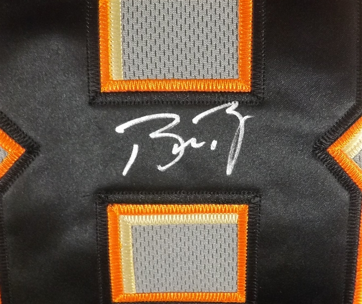 BUSTER POSEY SIGNED SAN FRANCISCO GIANTS MAJESTIC JERSEY COA